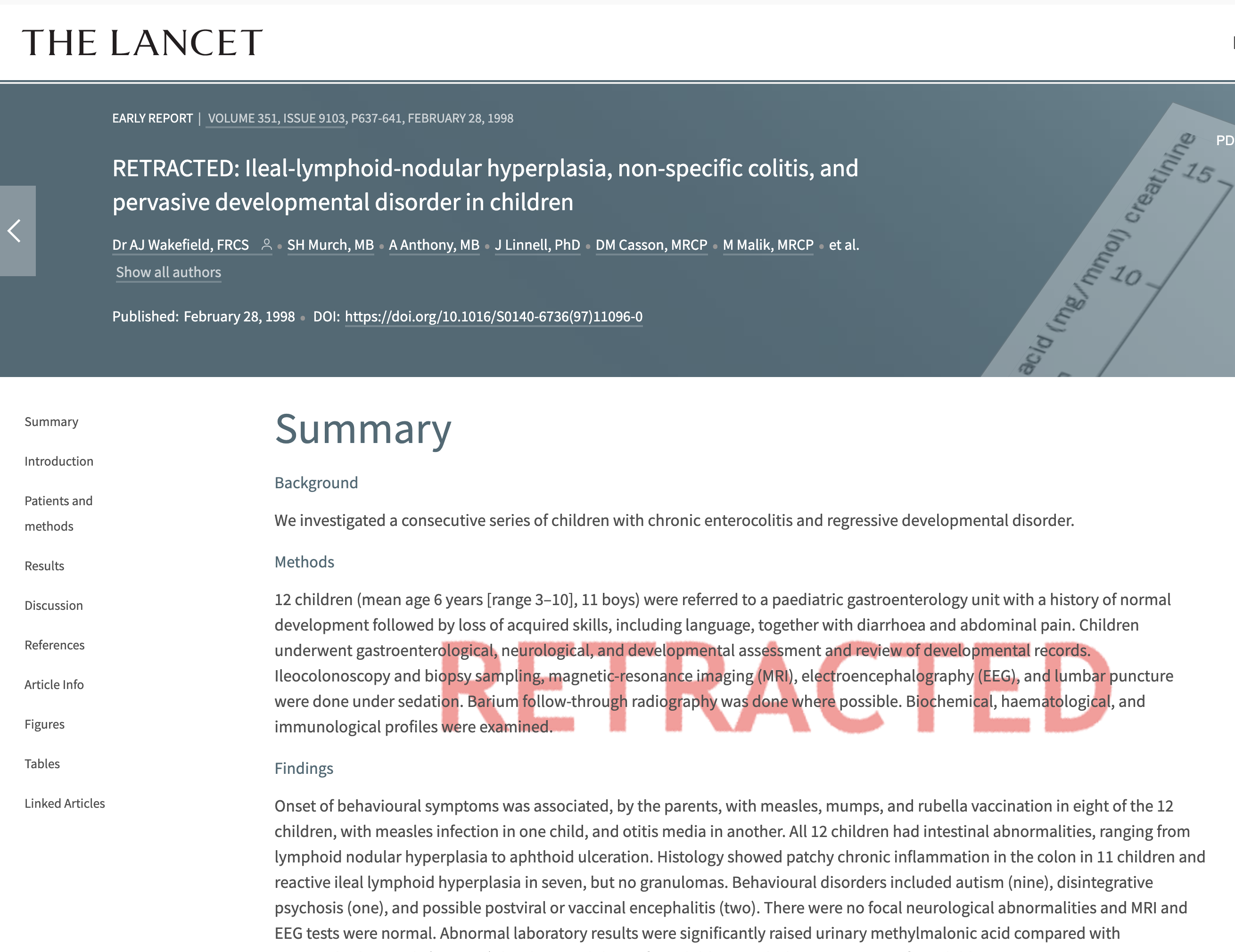 Journal Retracts 16 Year Old Paper >> Retracted Anti Vaccine Papers Ultimate List Of Pseudoscience And Bias